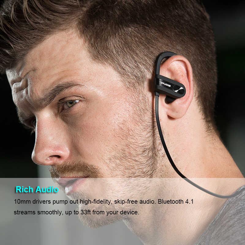 IPUDIS 1 год гарантии спортивные Bluetooth наушники IPX7 водонепроницаемые наушники ушные крючки гарнитура Беспроводные наушники с микрофоном 110 мАч