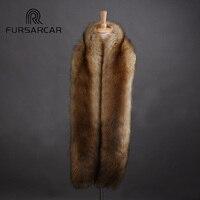 FURSARCAR Luxury Women's Faux Fur Scarf 2017 New 175cm Long Winter Imitation fox Fur Scarfs For Women Solid Color Scarves