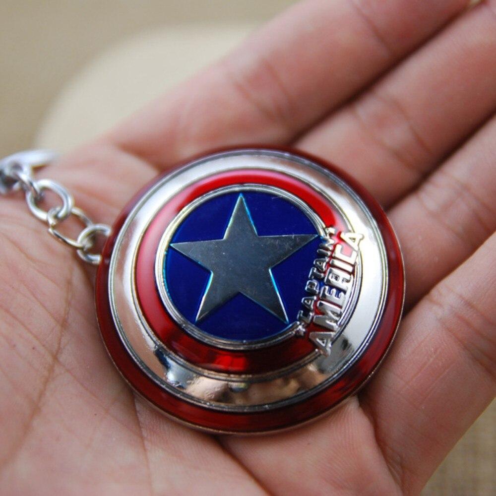 Новинка! Горячая Распродажа! Супер герой Марвел, Капитан Америка, подвеска, брелок для ключей, llaveros, металлический, Мстители, косплей, брелок, ювелирные изделия - Цвет: Sliver