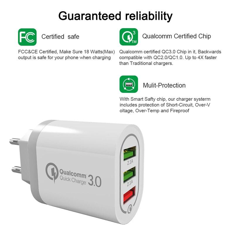 Qualcomm USB laddare 18 watt QC 3.0