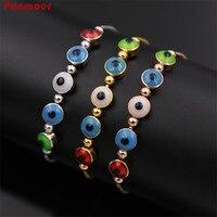 Commercio all'ingrosso Medio Oriente di rame monili di modo colorato smalto occhi telescopico braccialetto per le donne amore bracciali e braccialetti