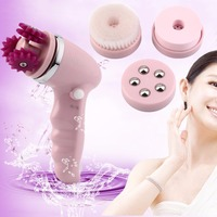 4 In 1 Waterproof Face Lift Pulling Tightens Loose Skin Electric Face Clean 3D Massager Brush