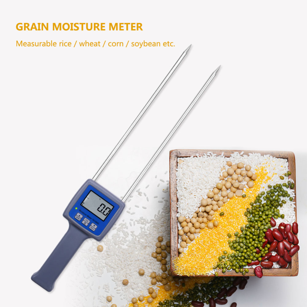 10Pcs/Lot TK100G Grain Moisture Meter Wheat Maize Soya Beans Paddy Rice Barley Moisture Tester цена