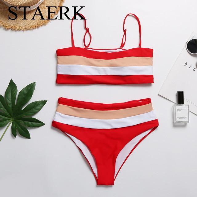 dd3f9c1b US $13.0 |STAERK Push Up Z Paskiem Kolor Strój Kąpielowy Bikini Stroje  Kąpielowe Kobiety Bikini Set Brazylijski Push Up Bikini 2018 Kobiet Bandeau  ...