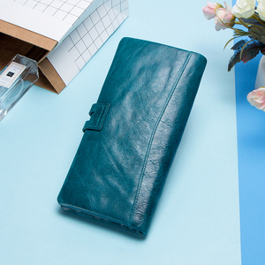 Image 2 - Portafoglio moda da donna portafoglio donna in vera pelle portafoglio lungo Design portamonete porta carte tasca per telefono alta qualità da donna