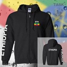 Ethiopia Ethiopian mens hoodies and sweatshirt casual polo sweat suit streetwear tracksuit nations fleece zipper flag ETH ET new