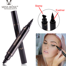 цены Miss Rose Eyeliner Stamp Eye Pencil 2 In 1 Double Head Pencil For Eyes Liquid Eyeliner Waterproof Natural For Eye Shadow Makeup