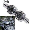 "Universal 7/8 ""1"" da motocicleta guiador black dial relógio temp termômetro para harley honda yamaha cruiser chopper cafe racer"