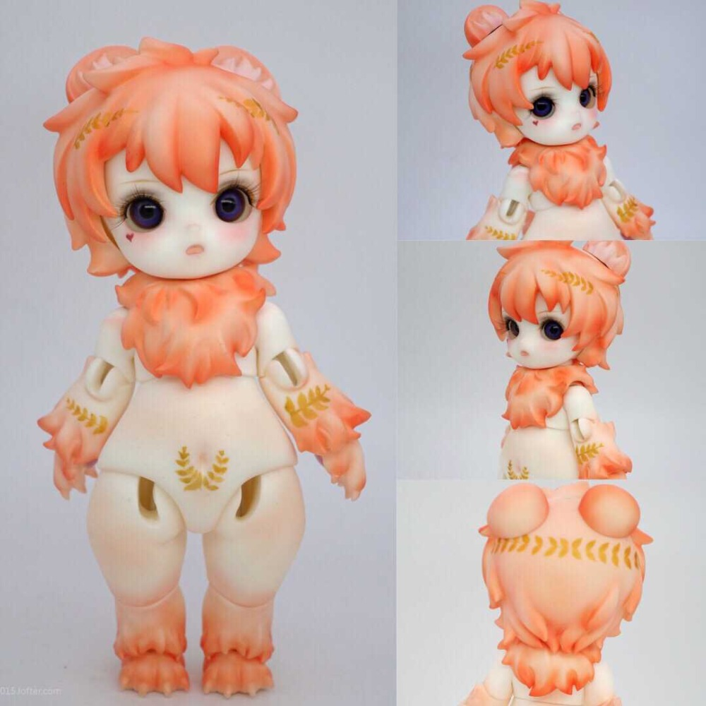 New arrival BJD DOLL1 8 new doll bear crazy animal resin model wig 18 cm free