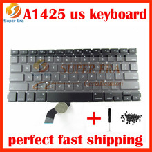 "NEW perfect for macbook pro 13.3"" retina A1425 US USA America keyboard clavier without backlight 2012 2013year with screws"