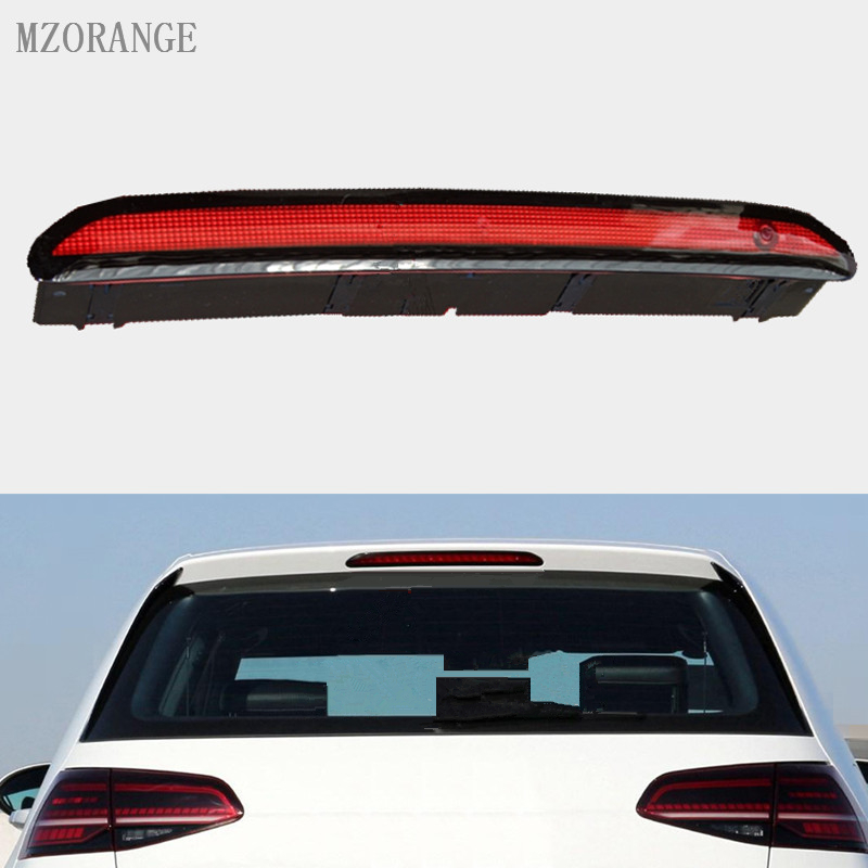 MZORANGE For Volkswagen For VW Golf 6 Golf 7 POLO 6R LED black and red High Additional brake light 5GG 945 087 C car rear trunk security shield cargo cover for volkswagen vw tiguan 2016 2017 2018 high qualit black beige auto accessories