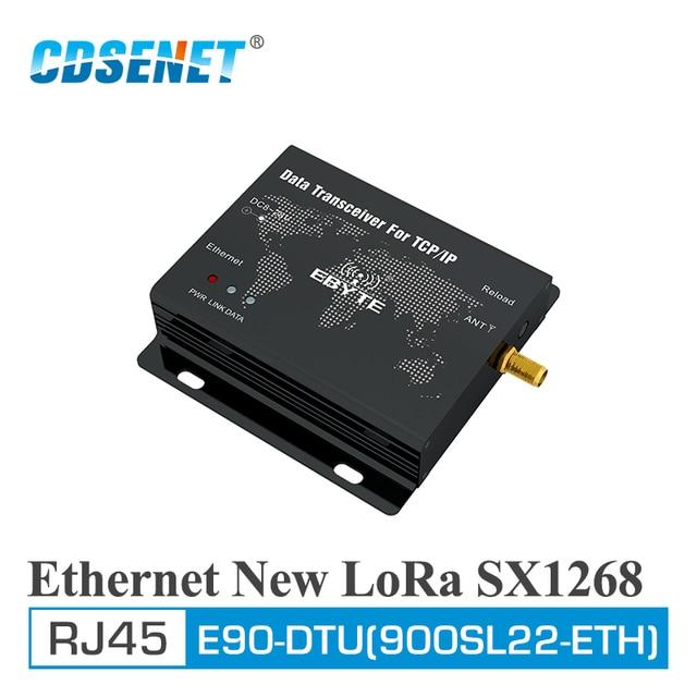 E90 DTU (900SL22 ETH) لورا 915MHz 22dBm SX1268 إيثرنت مودم لاسلكي وحدة نقل شفافة