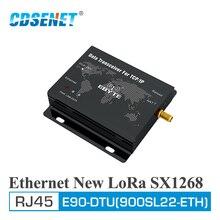 E90 DTU (900sl22 eth) lora 915 mhz 22dbm sx1268 ethernet sem fio modem módulo de transmissão transparente