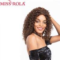 Мисс Рола волос предварительно Цвет ed Бразильские Длинные волосы парики афро кудрявый вьющиеся #2/4 Цвет 16 дюйм(ов) для для женщин non реми Бесп