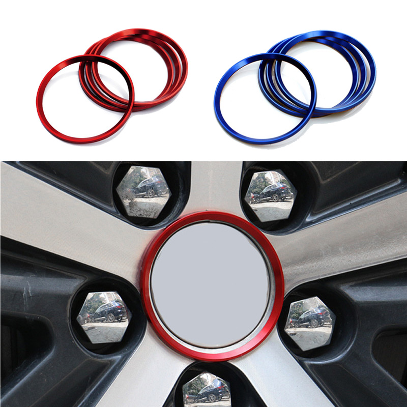 4pcs <font><b>Wheel</b></font> Hub Cover Sticker for <font><b>Peugeot</b></font> 307 206 308 207 <font><b>406</b></font> 407 408 Refitting Accessories Styling image