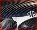 1 pc Black 1.52MX50CM 4D carbon fiber vinyl film , Texture Black 4D carbon fiber car sticker with bubble free FREE SHIPPING