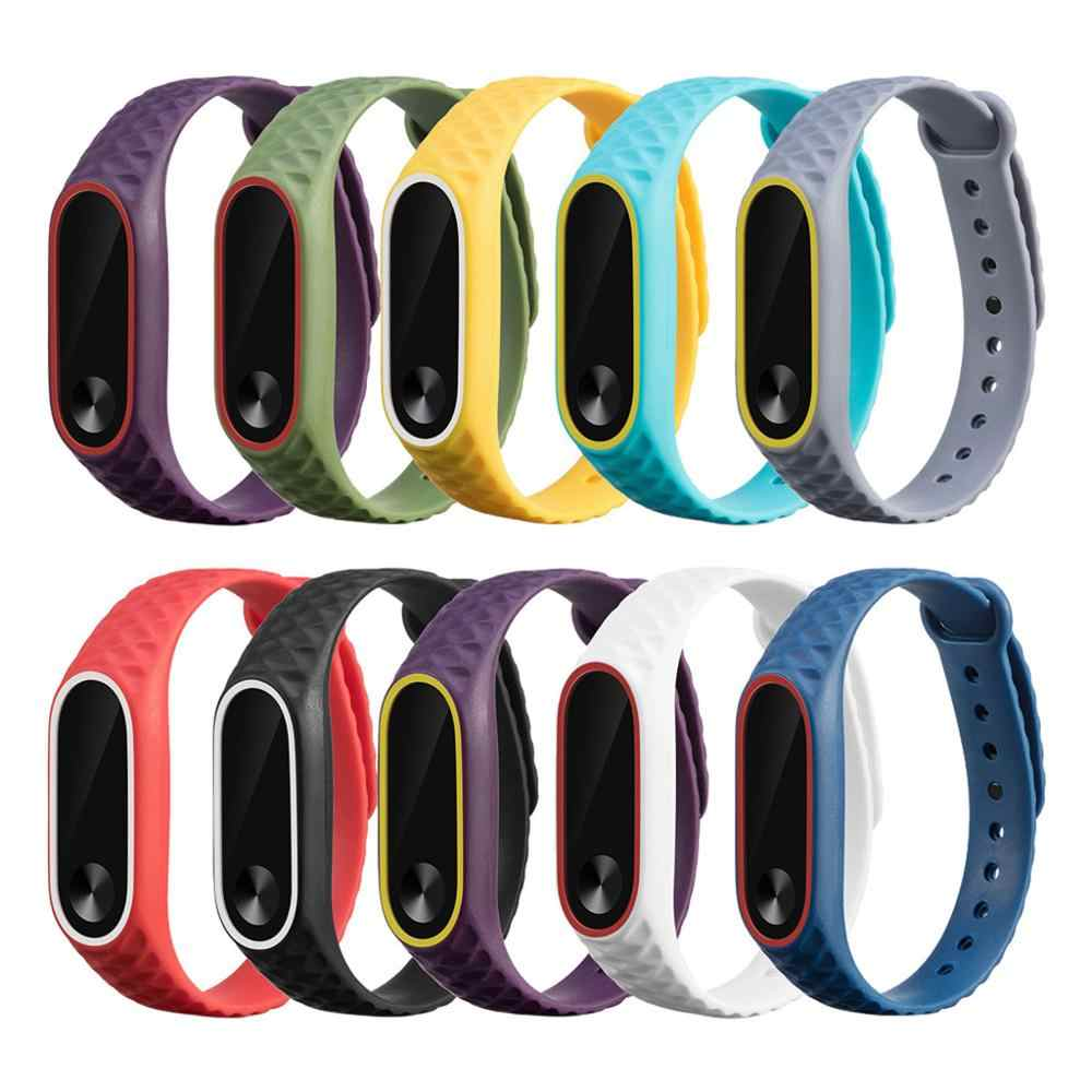 Replacement Silicone Wrist Strap on for Xiaomi Mi Band 2 Xaomi Xiomi MiBand Band2 Wristband Smart Wrist Stylish Soft Straps