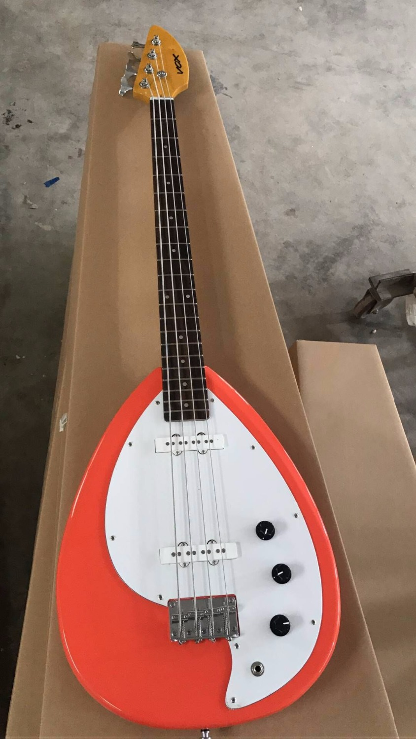 Wholesale 2017 New Arrival VOX Electric Bass Guitar 4 String Top quality In Salmon color Pink 170920 china custom fretless 4 string music man electric bass guitar in glossy black in stock