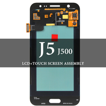 Super AMOLED LCD For  J5 2015 J500 J500F LCD Display No Dead Pixel Touch Screen Assembly For  J500 J500F Screen for samsung galaxy j5 lcd for samsung j5 j500 j500f j500fn j500y j500m adjustable lightness lcd display touch screen digitizer