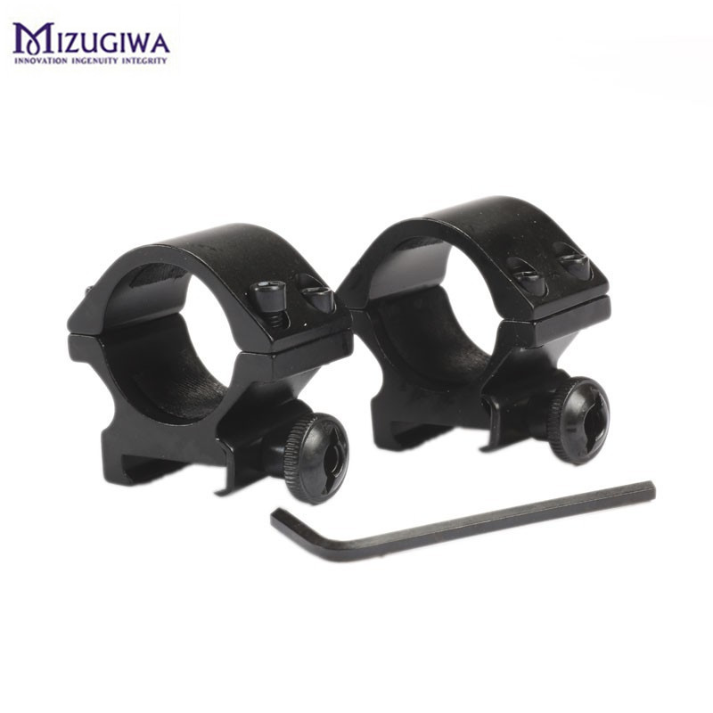 Mizugiwa Hunting Scope Mount 25.4mm Low Profile Ring Weaver With 20mm Picatinny Rail For Airsoft Scope Rifle Gun Hunting Caza