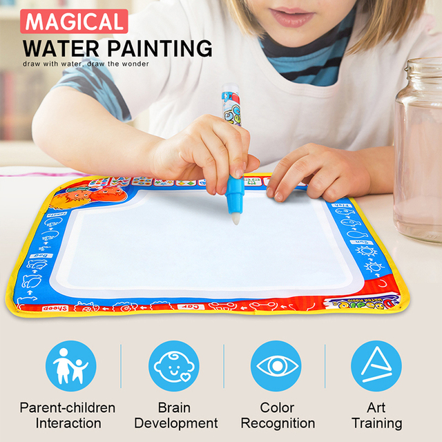 DODOELEPHANT Drawing Cloth Magic Water Coloring Canvas Doodle With Pen Painting Board Toys