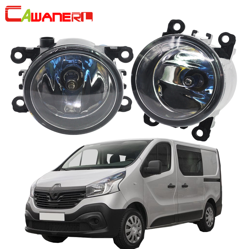 Cawanerl 1 Pair 100W Car Halogen Fog Light DRL Daytime Running Lamp 12V For Renault Trafic 2.5L L4 Diesel Turbocharged 2003-2006 cawanerl 2 x car led fog light drl daytime running lamp 12v white for toyota prius hatchback zvw3 1 8 hybrid 2009 onwards