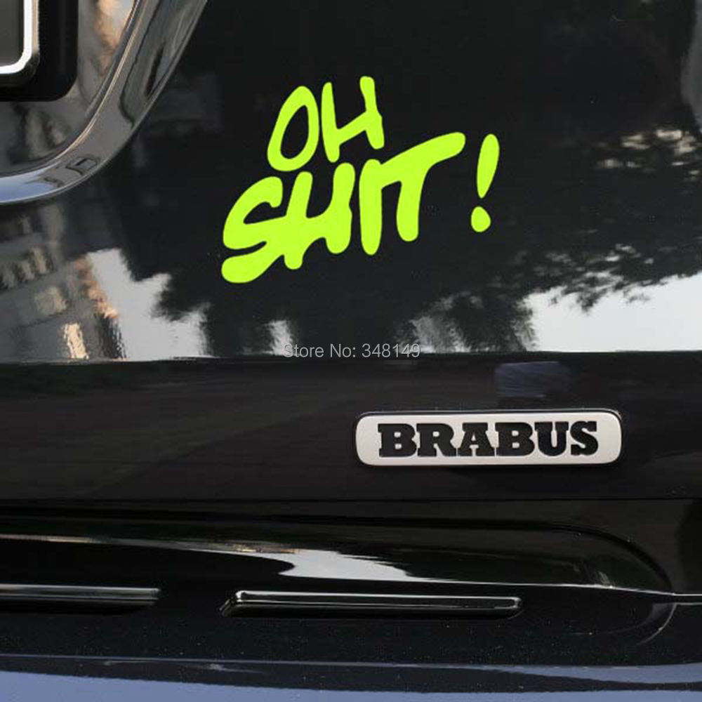 Aliauto OH SHIT ! Styling Funny Car Stickers and decals for Toyota Chevrolet cruze Volkswagen skoda   polo   Golf Hyundai Kia Lada