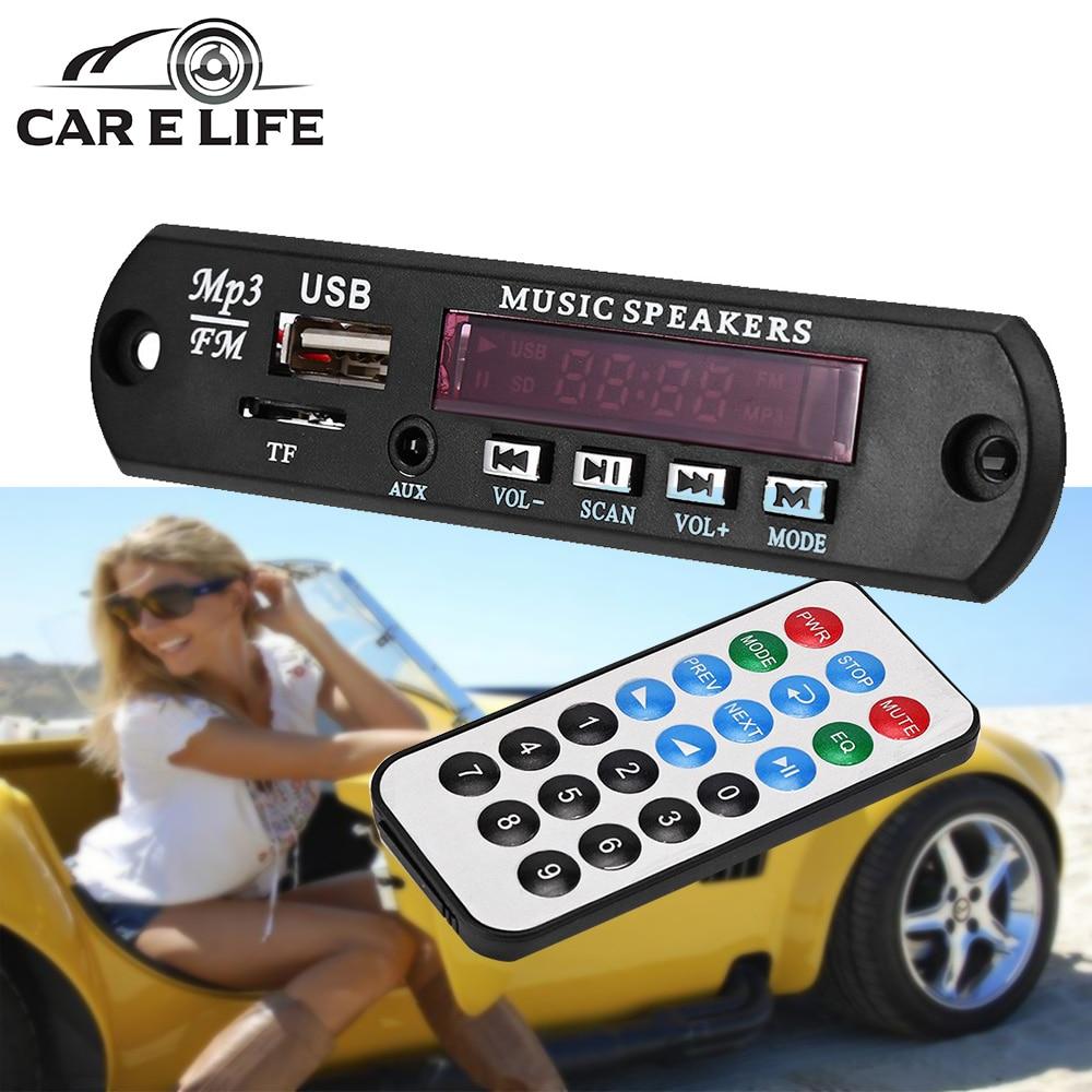 Kkmoon Car Music Mp3 Decoder Board Audio Fm Radio Module: Car Decoder Board MP3 Player Amplifier Panel LED 12V Audio