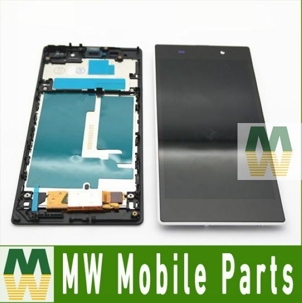 For Sony Ericsson For Xperia Z1 L39 L39H LCD Display +Touch Digitizer Screen +Frame 1PC /Lot  3 Color