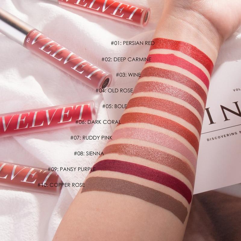 FOCALLURE Velvet Matte Liquid Lipstick High Quality Sexy Lip Tint Pigment Waterproof Long Lasting Natural light