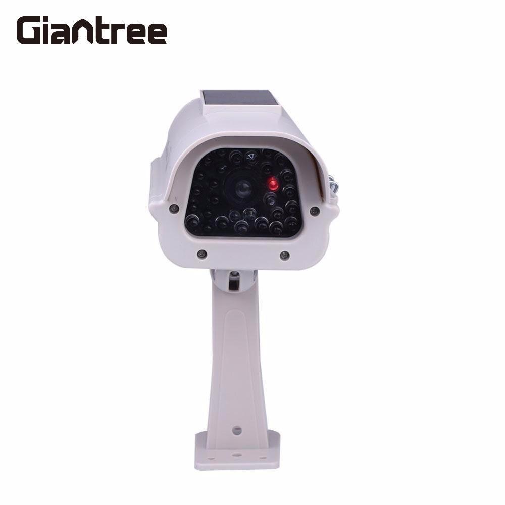 giantree Solar Powered Fake Security Camera Dummy CCTV Surveillance Outdoor Deterrent Security Camera with Light Outdoor Indoor