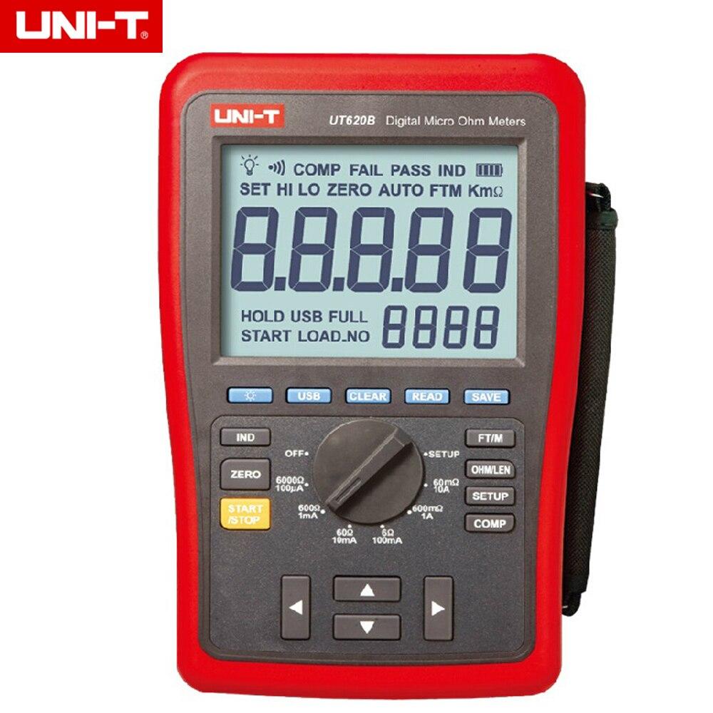 UNI T UT620B Digital Micro Ohm Meters Low Resistance Tester USB Transmission