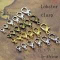 Free Shipping 10mm(0.3937 inch) 50pcs/lot Alloy Lobster clasp Hooks for necklace&bracelet chain DIY jewelry findings EV-456CC