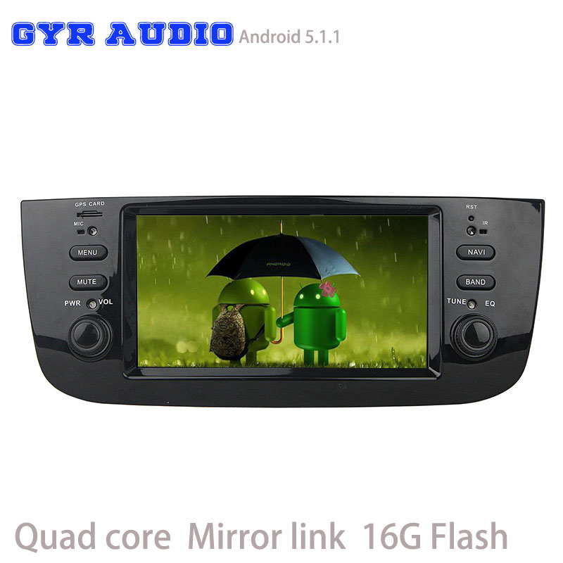 Quad Core Android 5 1 Car dvd GPS player for fiat new LINEA Punto 2012 2015