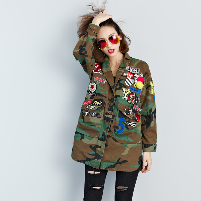 Selina Camo Embroidery Jacket