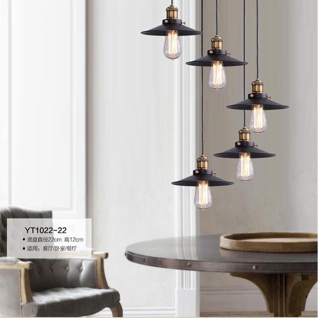 Loft Retro Industrial Iron Vintage Ceiling Light Chandelier Pendant Lamp  Fixture Vintage Lighting Hanging Children Light