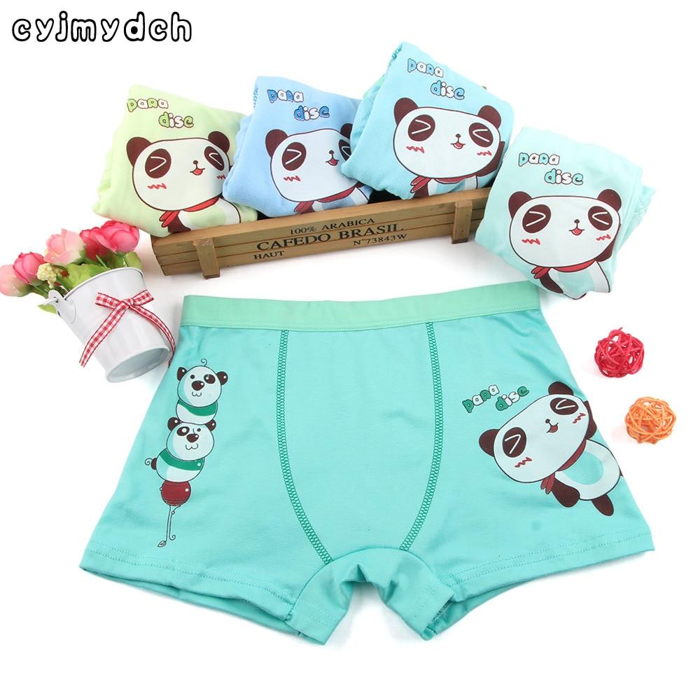 Cartoon Panda Boys Panties Teenager Child Underwears Shorts Briefs Boys Boxers kids Underpants Children Clothing5pcs/lot
