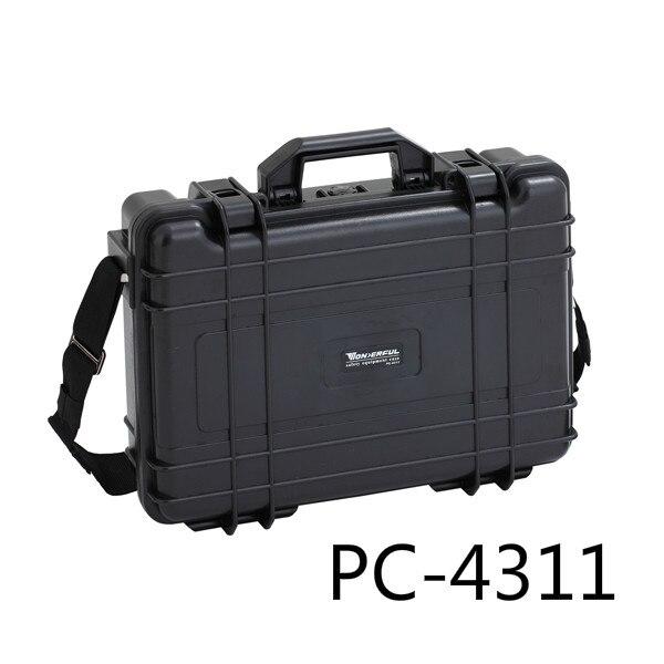 1,3kg 438*323*116mm Abs Kunststoff Wasserdicht Versiegelt Sicherheitsausrüstung Fall Tragbare Tool Box Trockenschrank Outdoor-ausrüstung