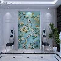 Top Fashion Promotion Freeshipping Tablet Rural Mixed Vivid Floral Design Hand Made Glass Mosaic Tile