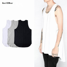 new Fashionable hiphop Original tide hole loose vest mens summer fashion casual leisure render