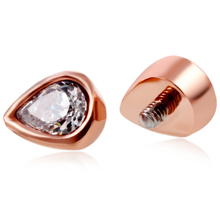 1PC Stainless Stee Micro Dermal Anchor Top Rose Gold Micro Skin Diver Implants Piercing Hide Rings