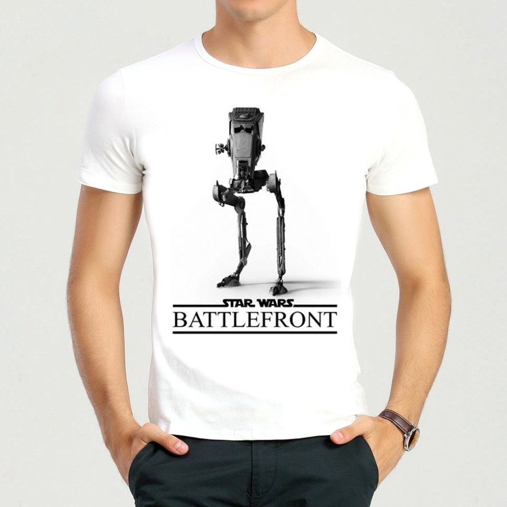 New Arrival Teens Fashion White Game Star Wars Battlefront T-shirt Star Wars Battlefront Top Tees Shirt