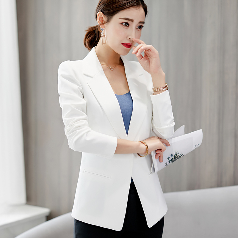 Autumn Winter Suits Women's Blazers Formal Office Work Blazer White Black Blazer Long Sleeve Slim Suit OL Coats Traje Terno