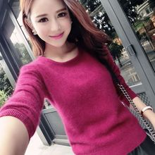 2017 female 100% mink cashmere sweater clearance special offer pure cashmere sweater collar head routine set wholesale