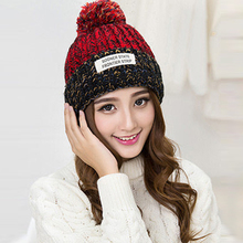 Women New Design Caps Patchwork Women Autumn Winter Hat Knitted Sweater Fashion Casual Hats Thick Warm Outdoor Girls Gorros 1737