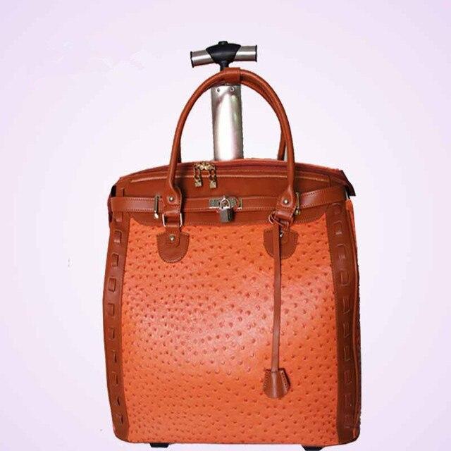 YISHIDUN специальный Страус pattern НЕРАВНЫЕ путешествия багаж чемодан сумки тележки мешок женщин доска шасси прицепа пакет Площади