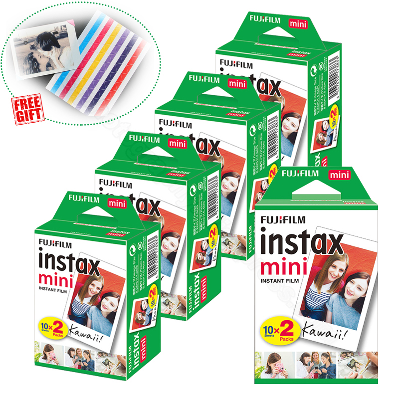 Fujifilm Instax Mini Instant Film White For Instax Mini 9 8 8+ 7c 7s 70 90 25 50s Camera Smartphone Printer SP-2 1 Polariod 300 ...