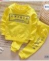2016 новое прибытие Мальчик комплект одежды детей спортивный костюм дети спортивный костюм девушки Футболка брюки детская футболка характер повседневная одежда