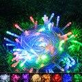 Popular 10m LED String Light Strap Lamp Multicolor Waterproof Garden Decor 110V AC