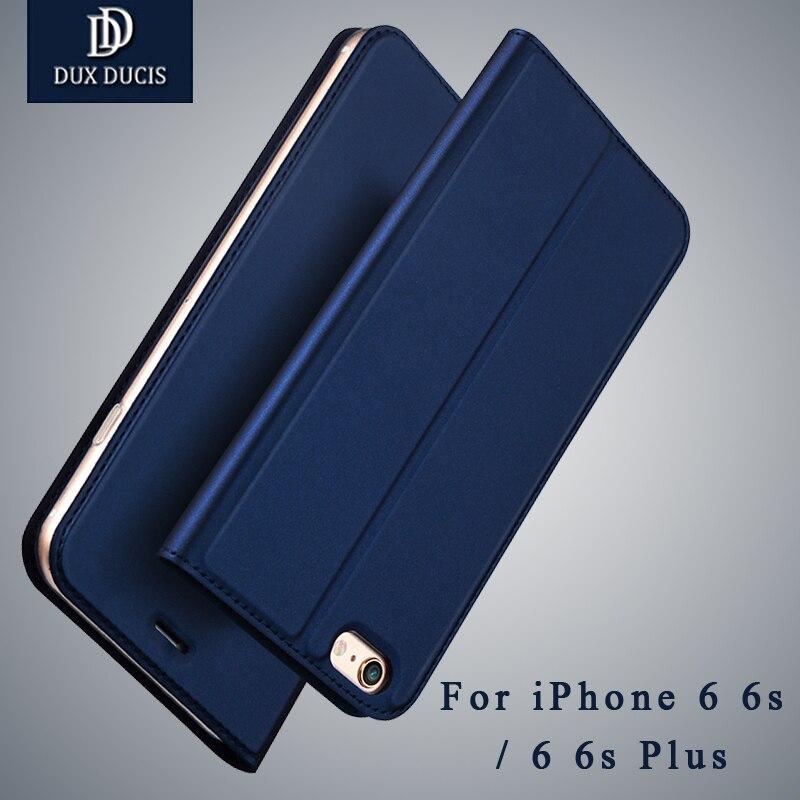 Pour iPhone 6 6 Plus Cas DUX DUCIS De Luxe PU Étui En Cuir 6 6 s Plus Cas Flip Couverture Portefeuille cas de téléphone Pour iPhone 6 s Plus Capa